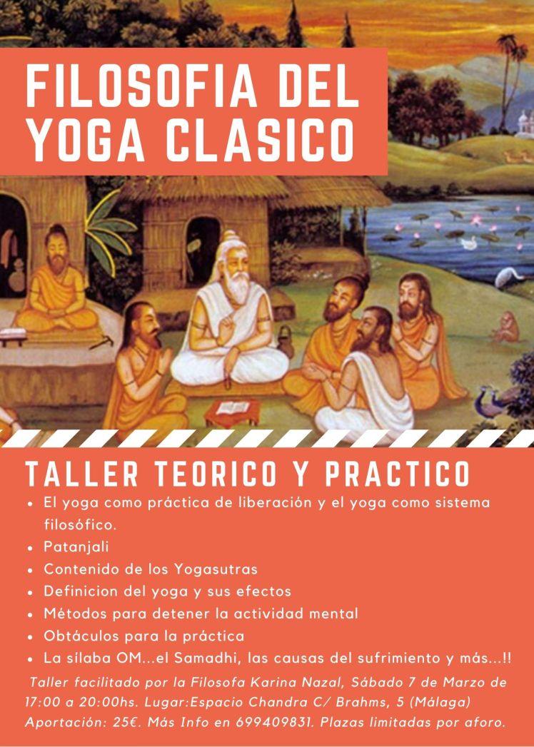 Taller Filosofia de Yoga clasico